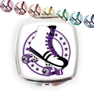 Retro Roller Skate Compact Mirror, available in 8 colours | The Inkabilly Emporium