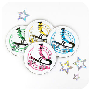 Retro Roller Skate Coaster Set | The Inkabilly Emporium