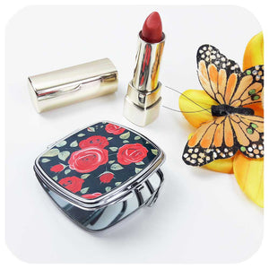 Rockabilly Rose Compact Mirror | The Inkabilly Emporium