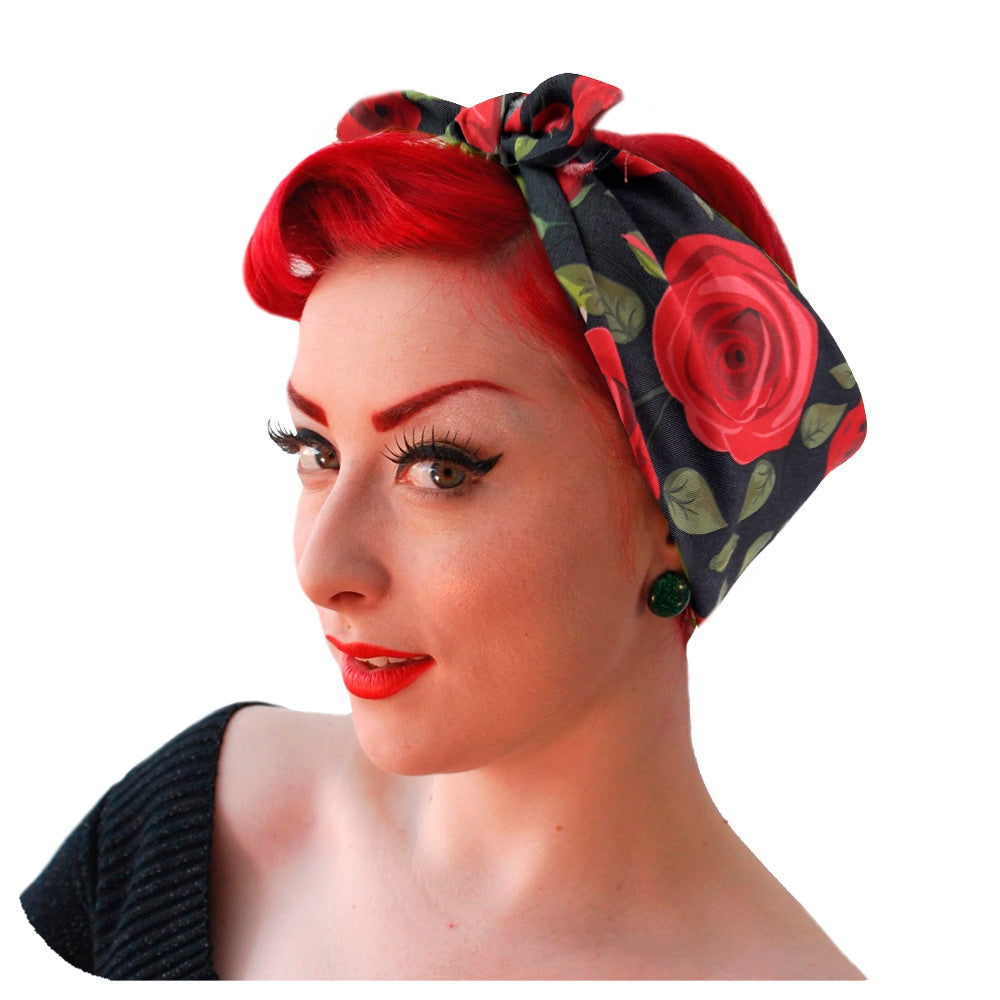 Rockabilly Rose Headscarf | The Inkabilly Emporium