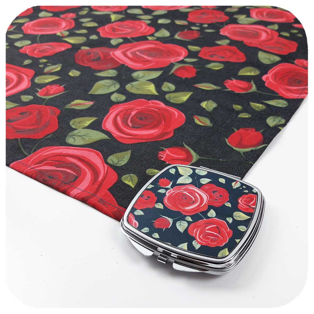 Rockabilly Compact Mirror & matching headscarf | The Inkabilly Emporium
