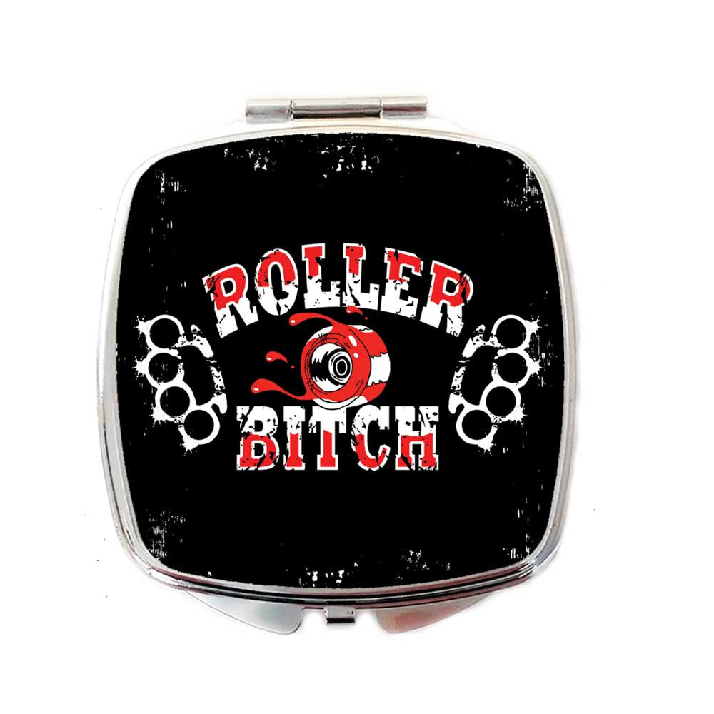 Roller Derby, Roller Bitch Compact Mirror  | The Inkabilly Emporium