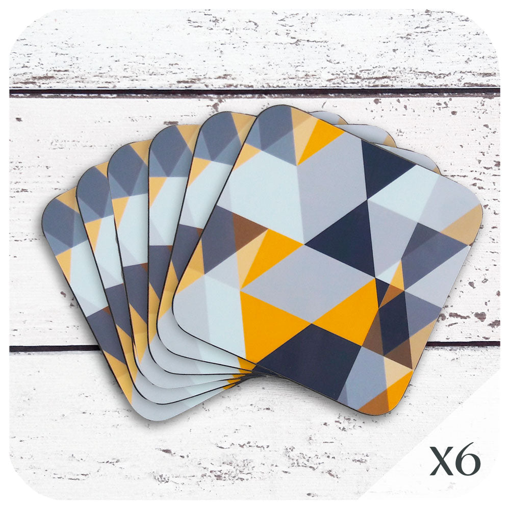 Scandi Geometric Coasters, set of 6 | The Inkabilly Emporium