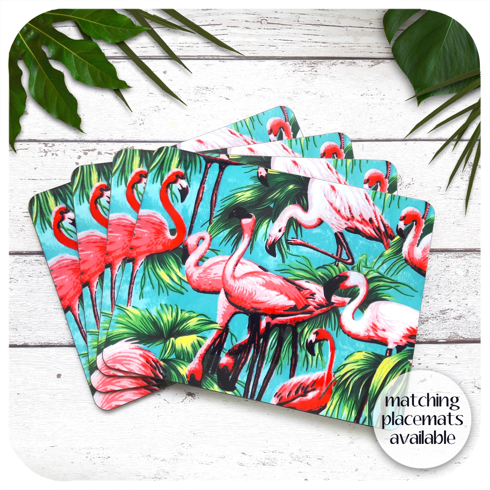 Matching Flamingo Placemats available | The Inkabilly Emporium