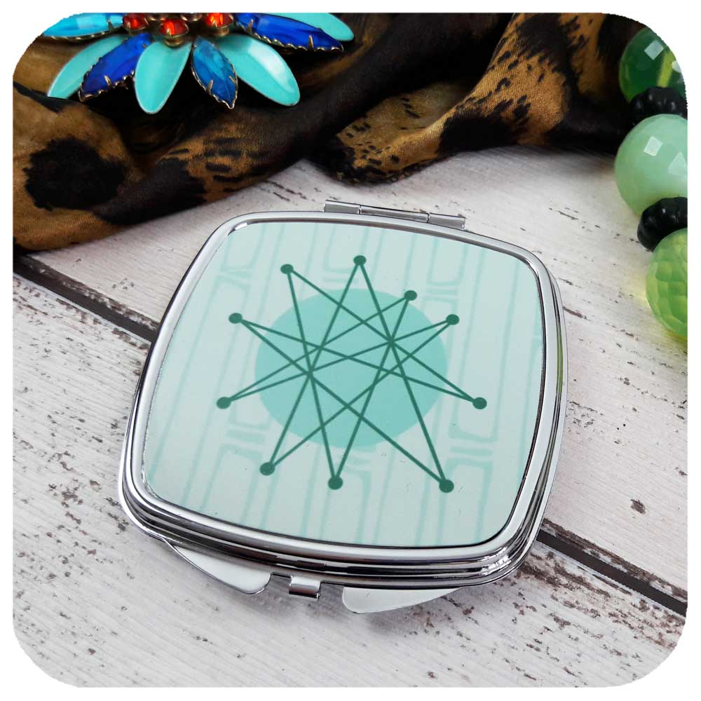 Retro Space Age Compact Mirror | The Inkabilly Emporium
