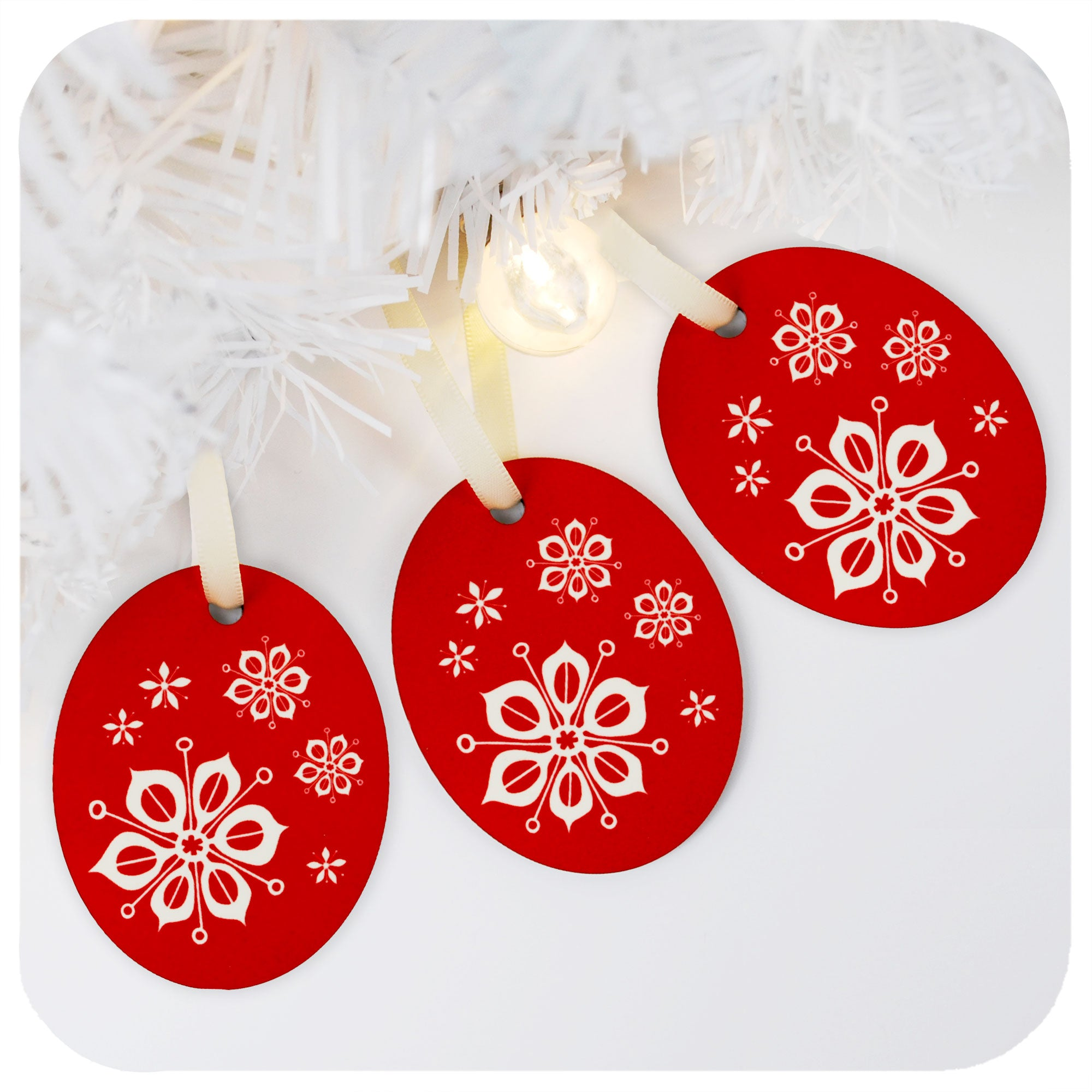 Scandinavian Christmas Tree Decorations - Set of 3