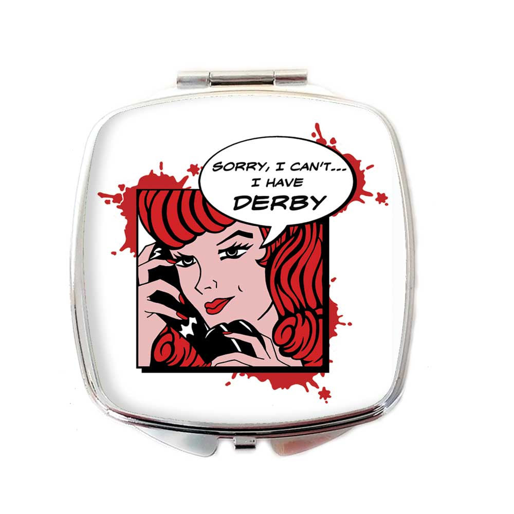 Roller Derby Retro Comic Strip Compact Mirror  | The Inkabilly Emporium