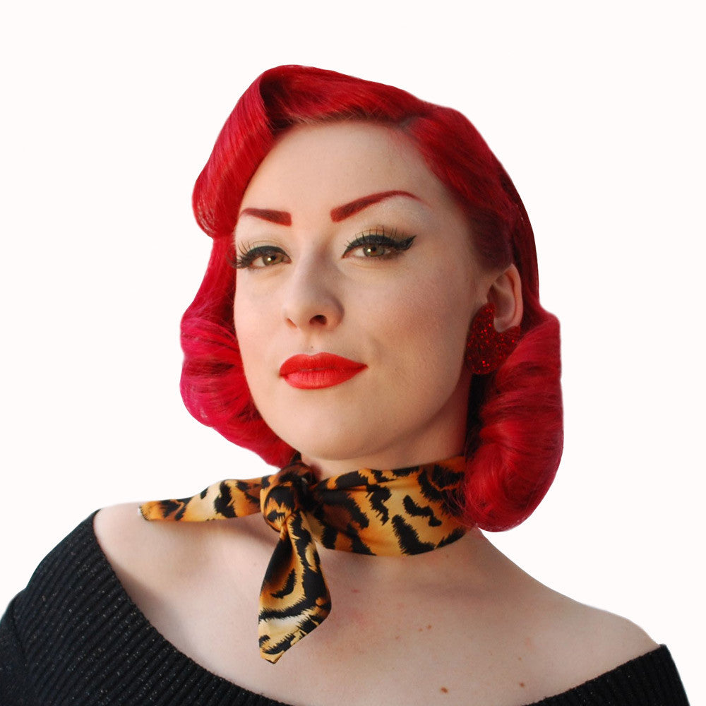 Rockabilly Tiger Print Bandana | The Inkabilly Emporium