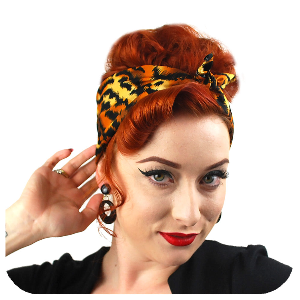 Rockabilly Bandana, Animal Print Collection