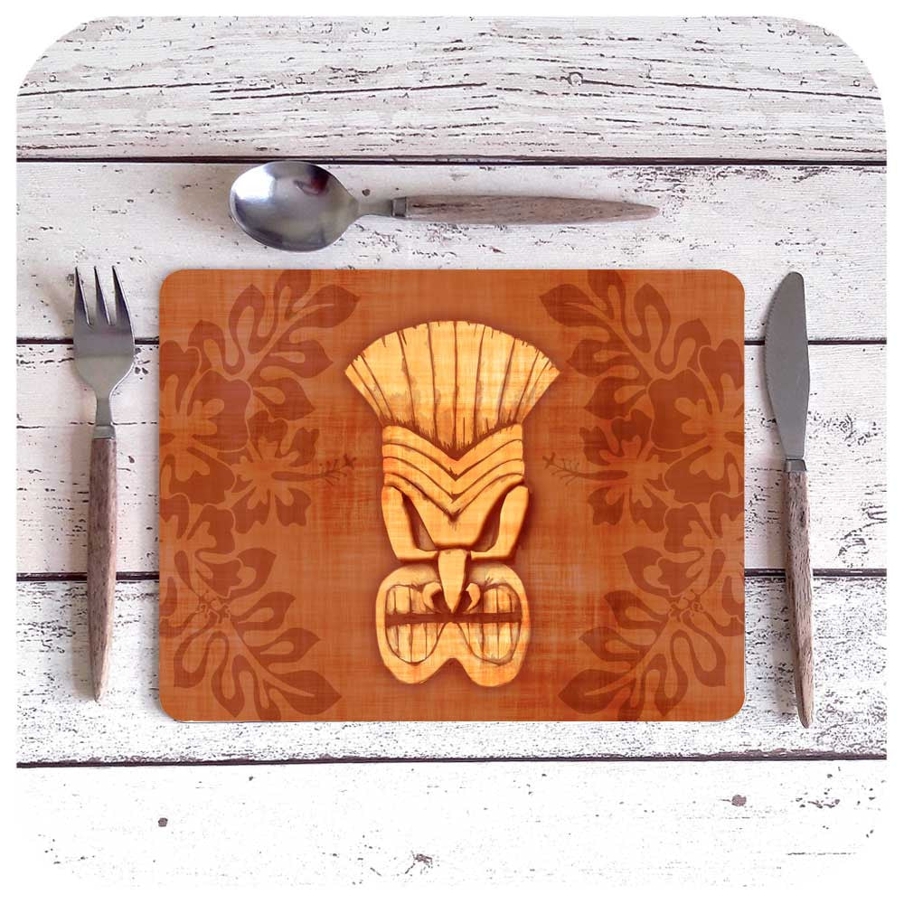 Brown Tiki Placemat | The Inkabilly Emporium