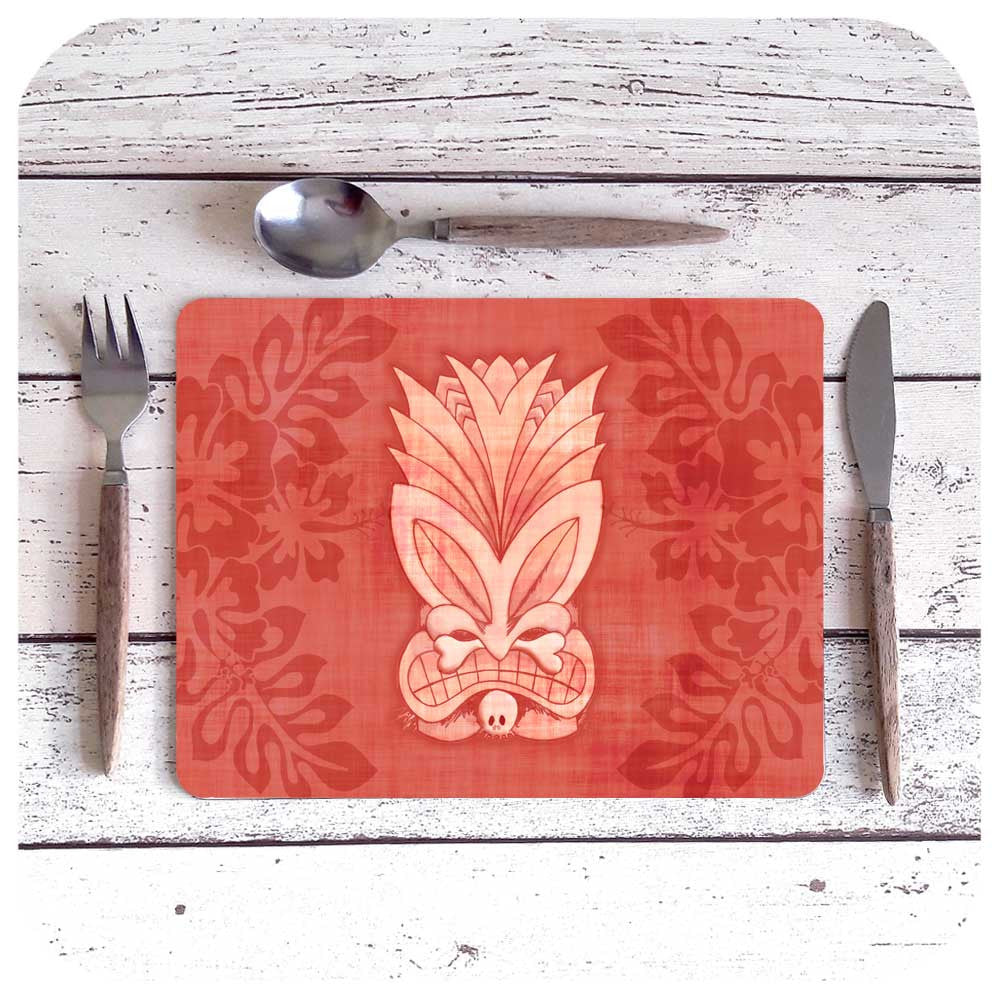Pink Tiki Placemat | The Inkabilly Emporium