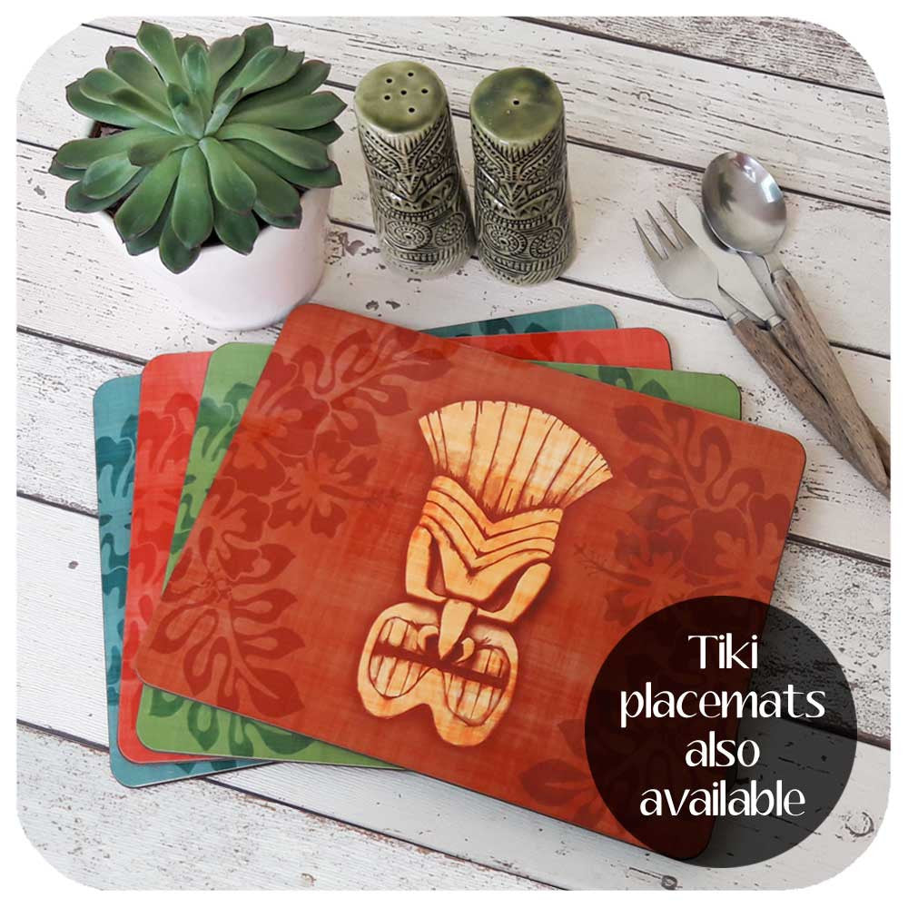 Tiki Mask Placemats available  | The Inkabilly Emporium
