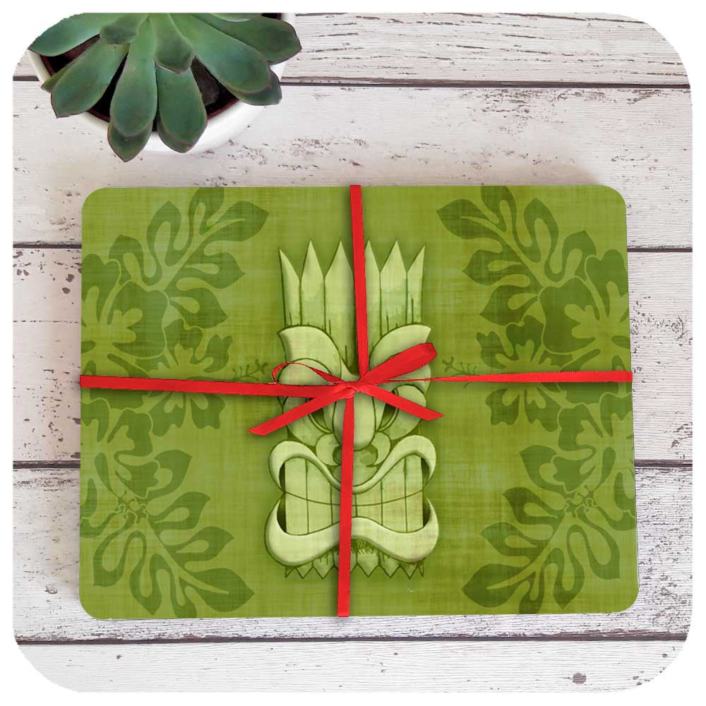 Tiki Placemat set comes wrapped in red ribbon | The Inkabilly Emporium