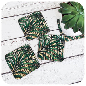 Tropical Palm Leaf, Tiki Style Coasters | The Inkabilly Emporium