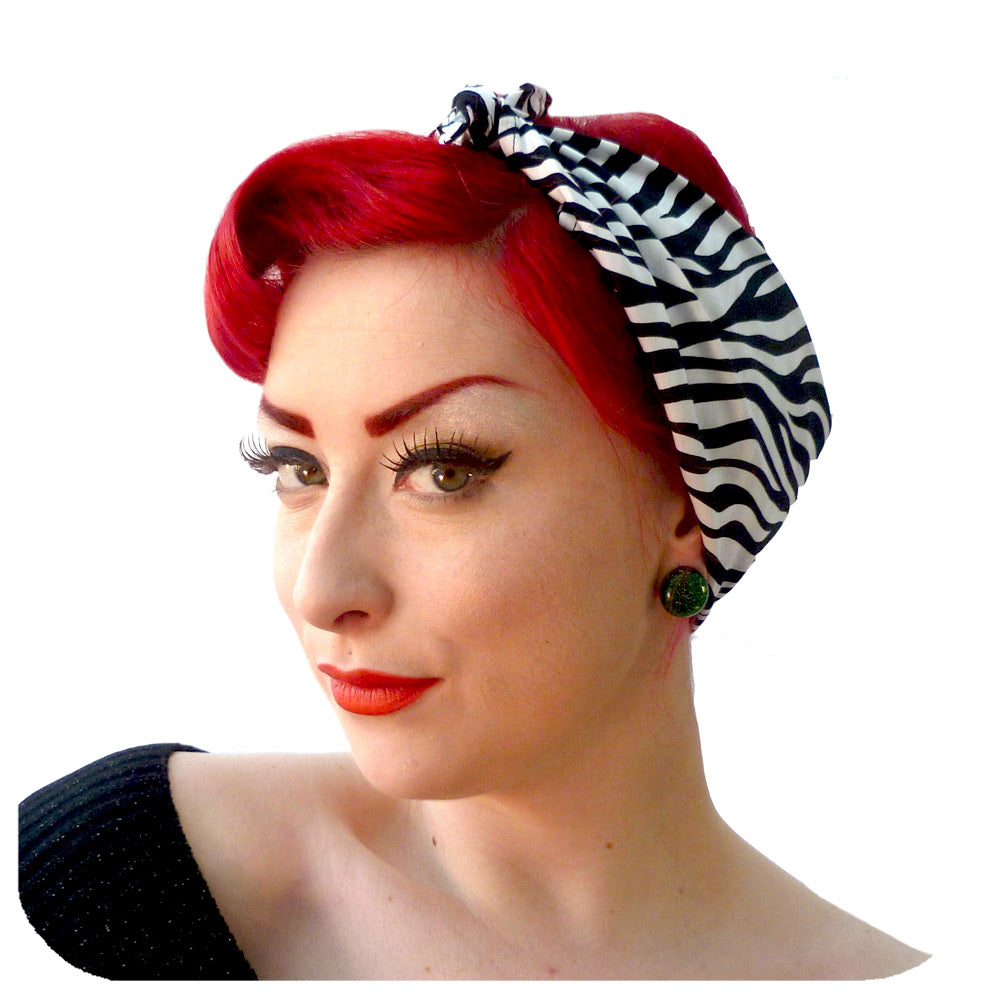 Rockabilly Zebra Print Bandana | The Inkabilly Emporium