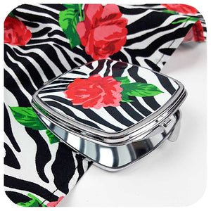 Zebra Rose Gift Set, modelled by Retro Pin-up model Miss Jessica Holly.