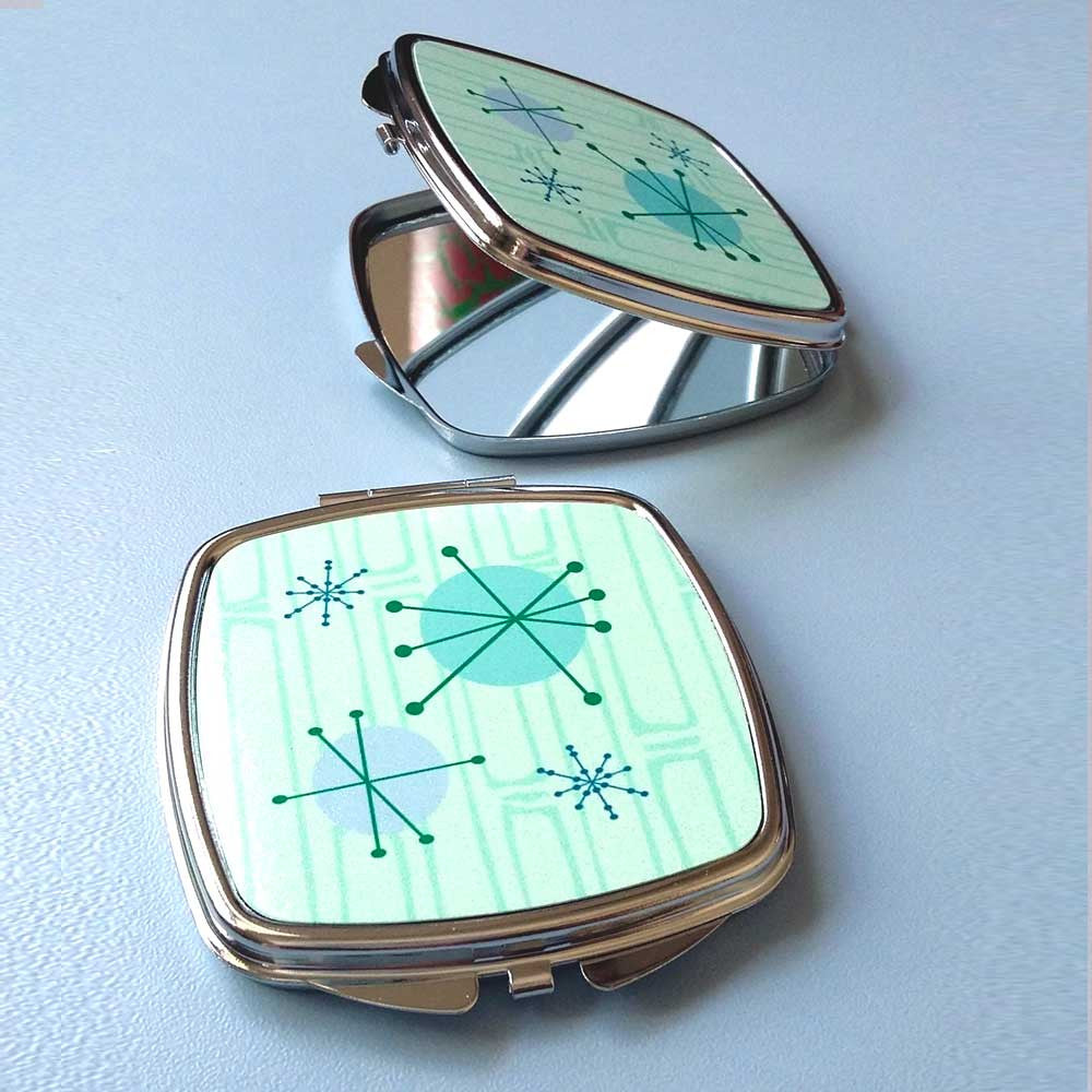 Atomic Starburst Compact Mirrors | The Inkabilly Emporium