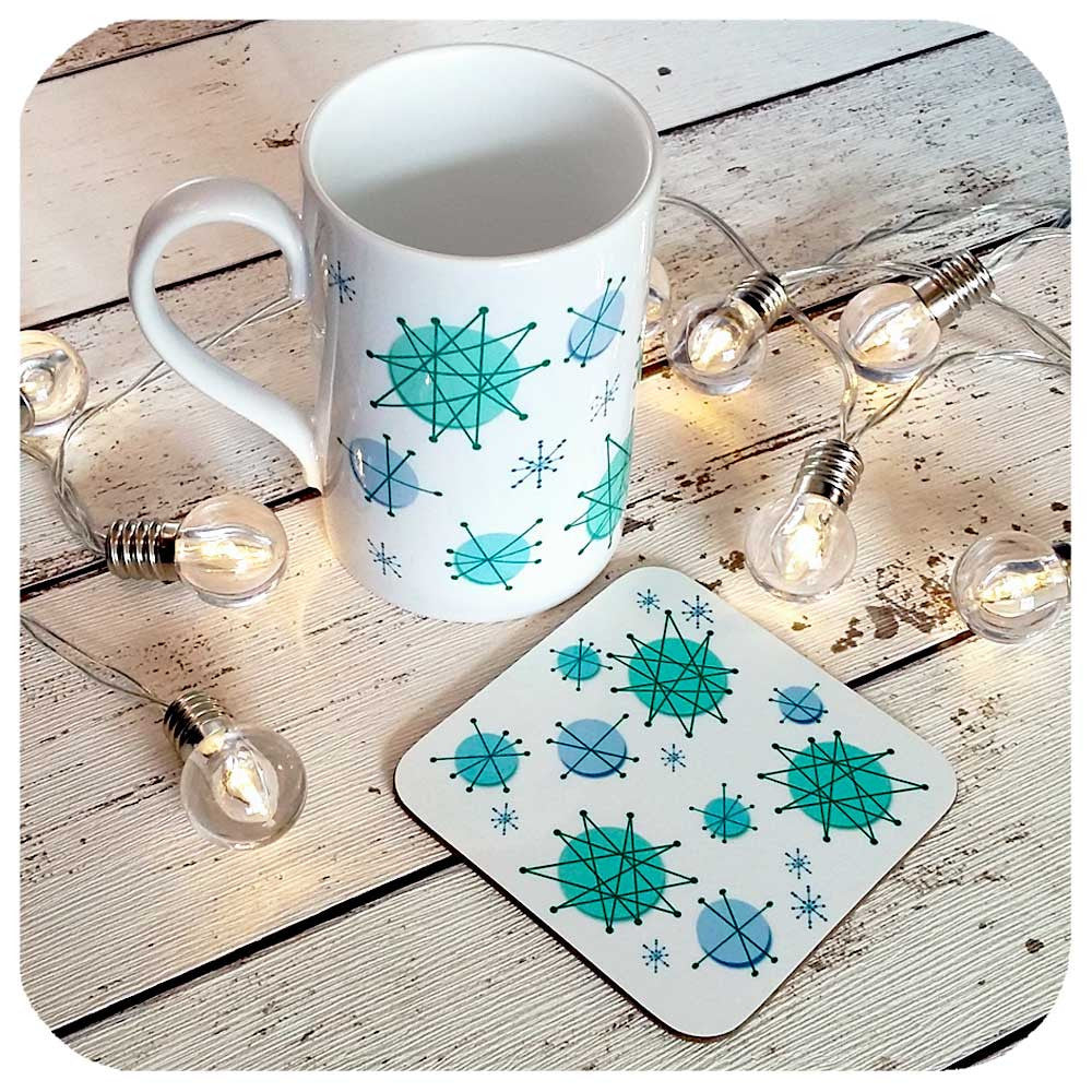 Atomic era mug and coaster set | The Inkabilly Emporium