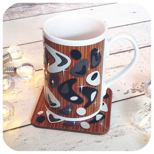 Retro Atomic Boomerang Gift Set, Mug and Matching Coaster  | The Inkabilly Emporium