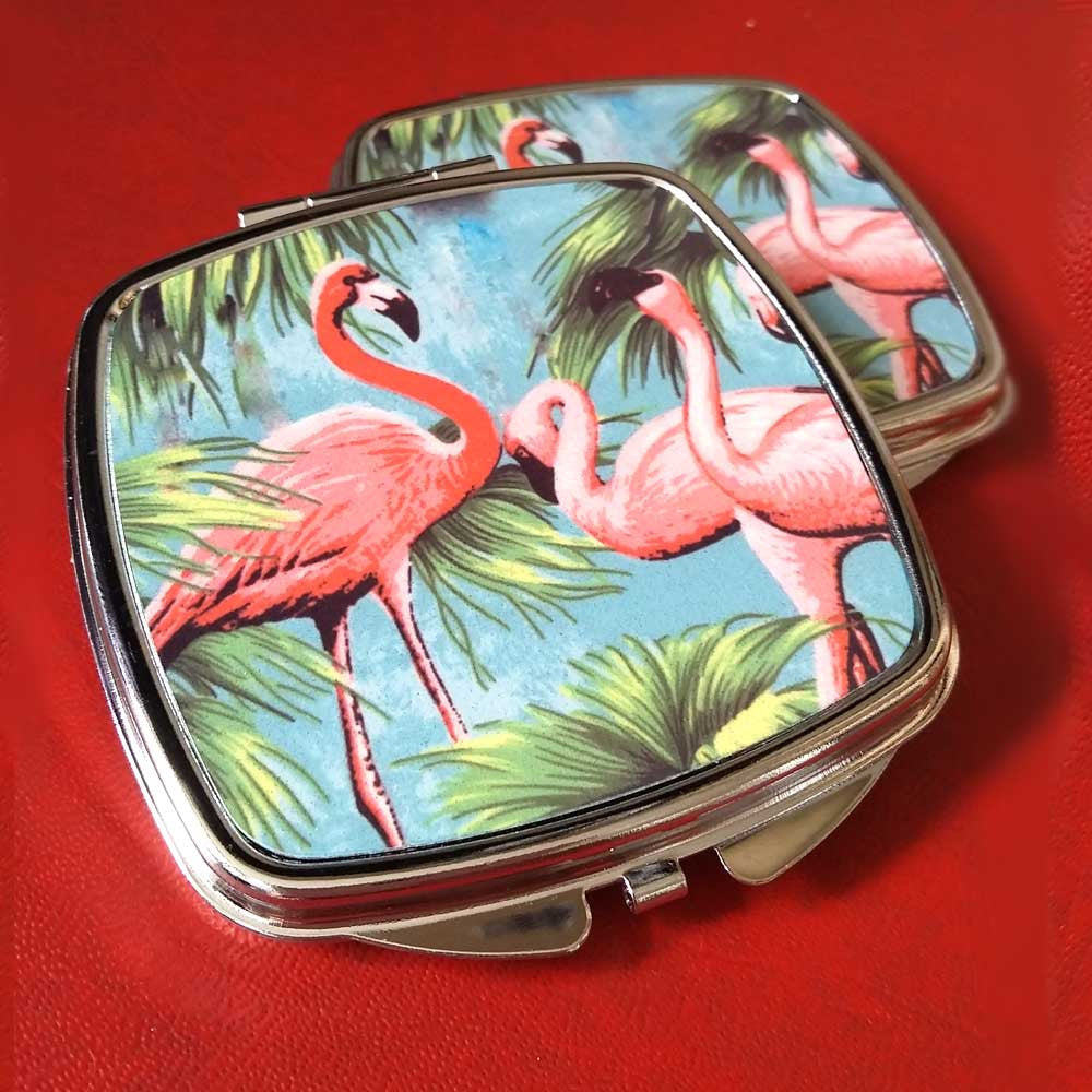Flamingo Compact Mirrors | The Inkabilly Emporium