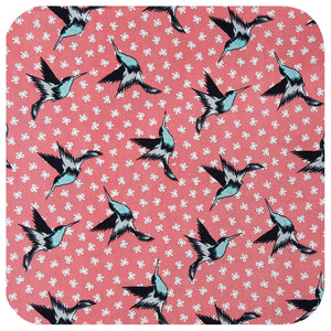 Hummingbirds Bandana in Dusty Pink | The Inkabilly Emporium