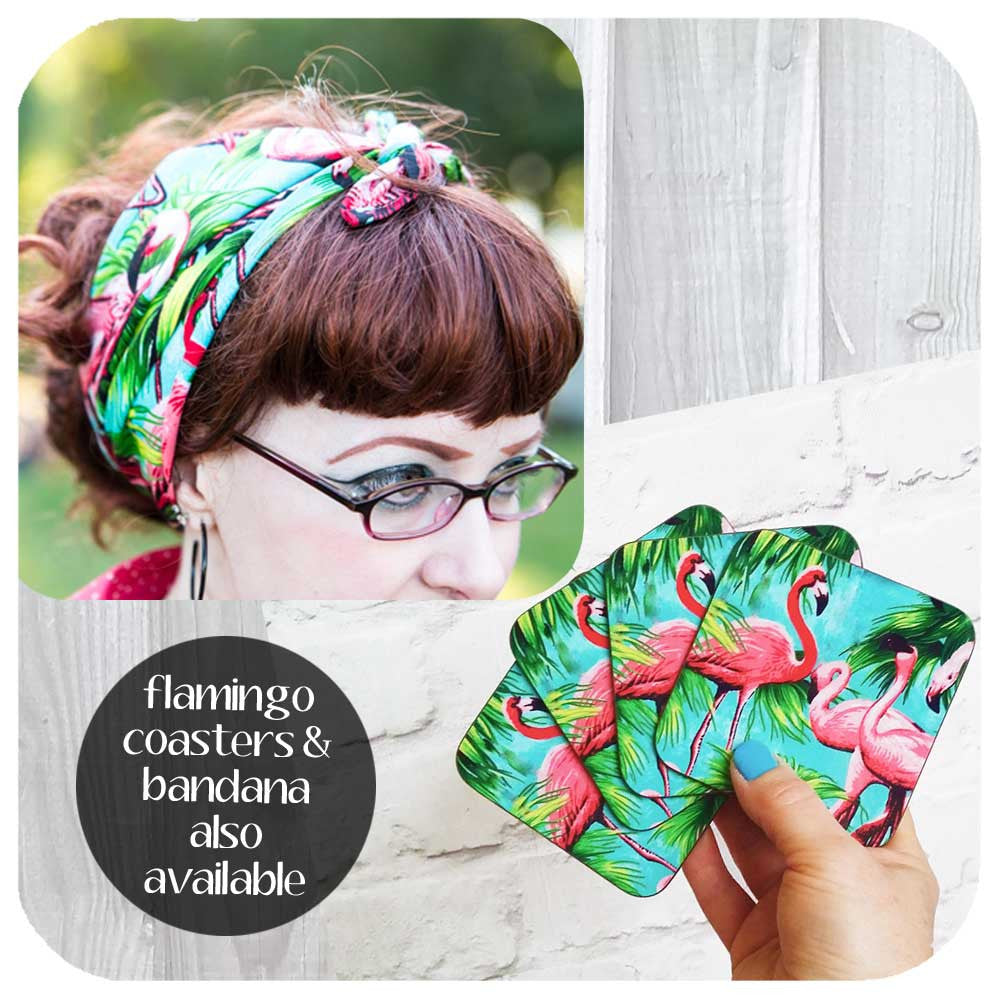 Flamingo Bandana and Coasters also available | The Inkabilly Emporium
