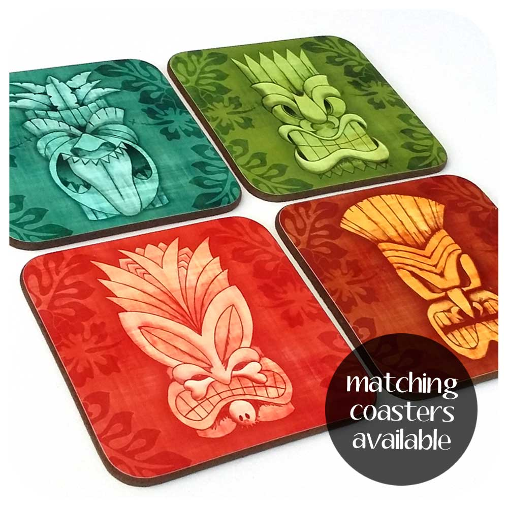 Tiki Coasters, set of four | The Inkabilly Emporium
