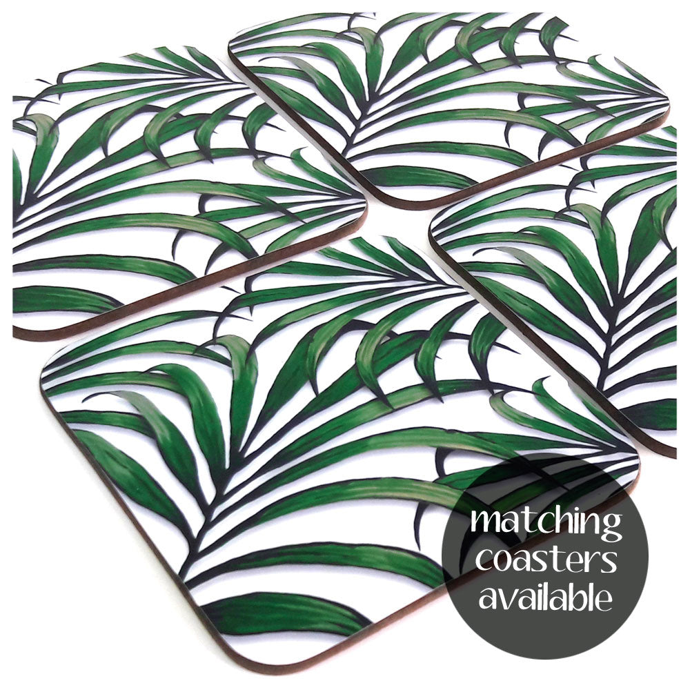 Palm Leaf Print Coasters also available to make a fabulous Tropical Tableware Set | The Inkabilly Emporium