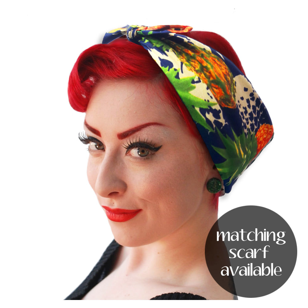 Matching Pineapple Headscarf | The Inkabilly Emporium