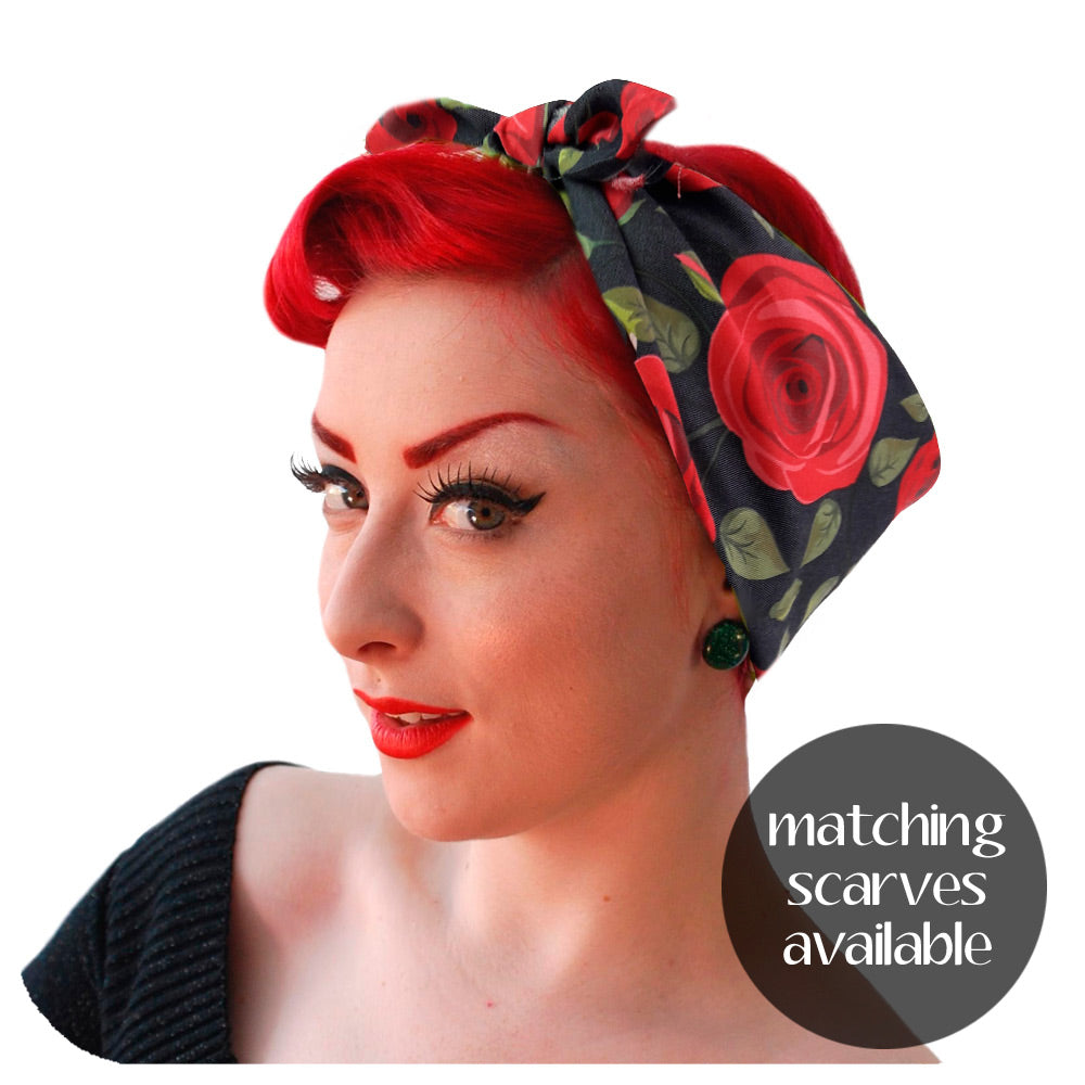 Matching Rockabilly Rose Bandana available | The Inkabilly Emporium