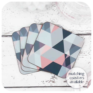 Scandi geometric Placemats in Blush Pink and Grey | The Inkabilly Emporium