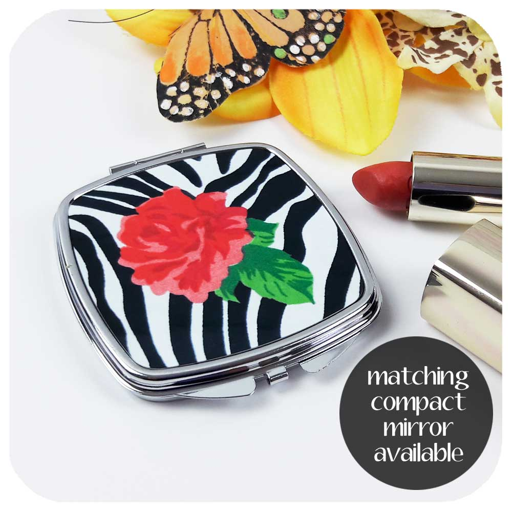 Zebra Rose Compact Mirror also available | The Inkabilly Emporium
