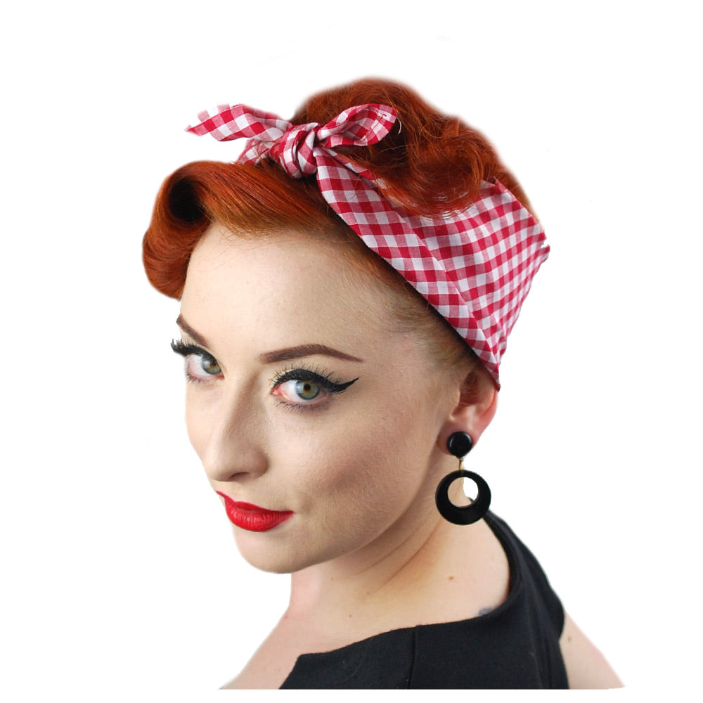 Red Gingham Bandana | The Inkabilly Emporium