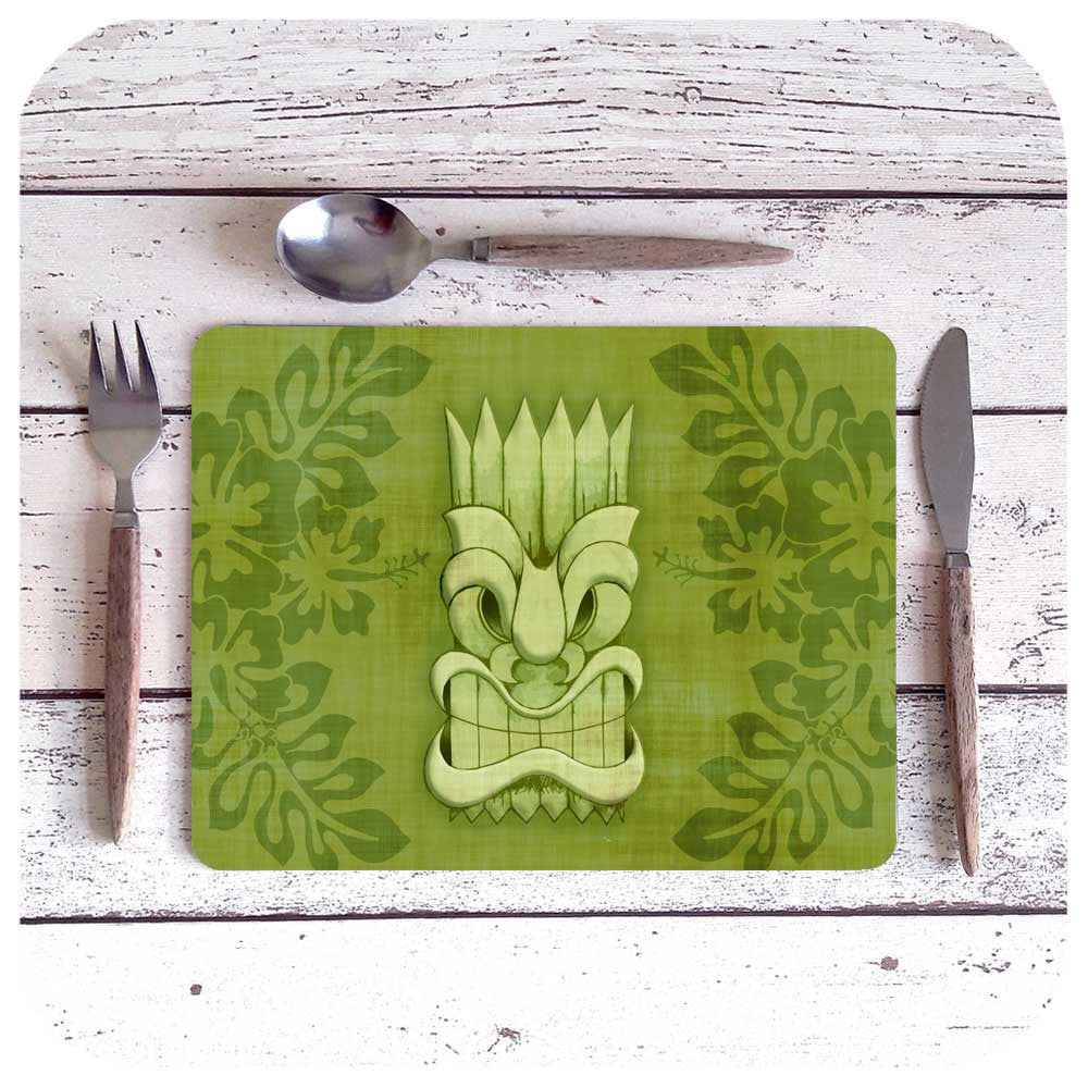 Green Tiki Placemat | The Inkabilly Emporium