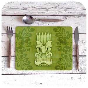 Tiki Mask Placemats, set of four different cheeky Tikis | The Inkabilly Emporium