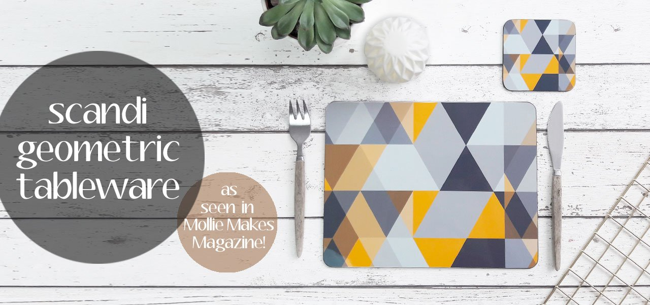Tropical Palm Leaf Homeware Collection - placemats and coasters