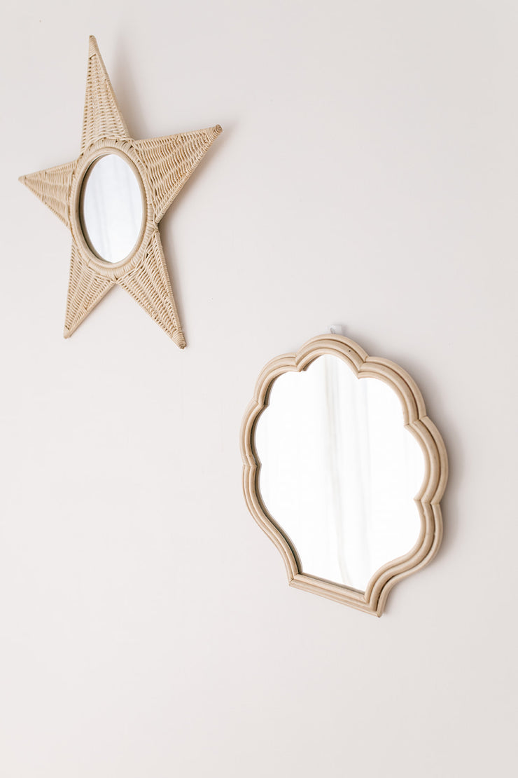 Rattan mirror - Nova star small