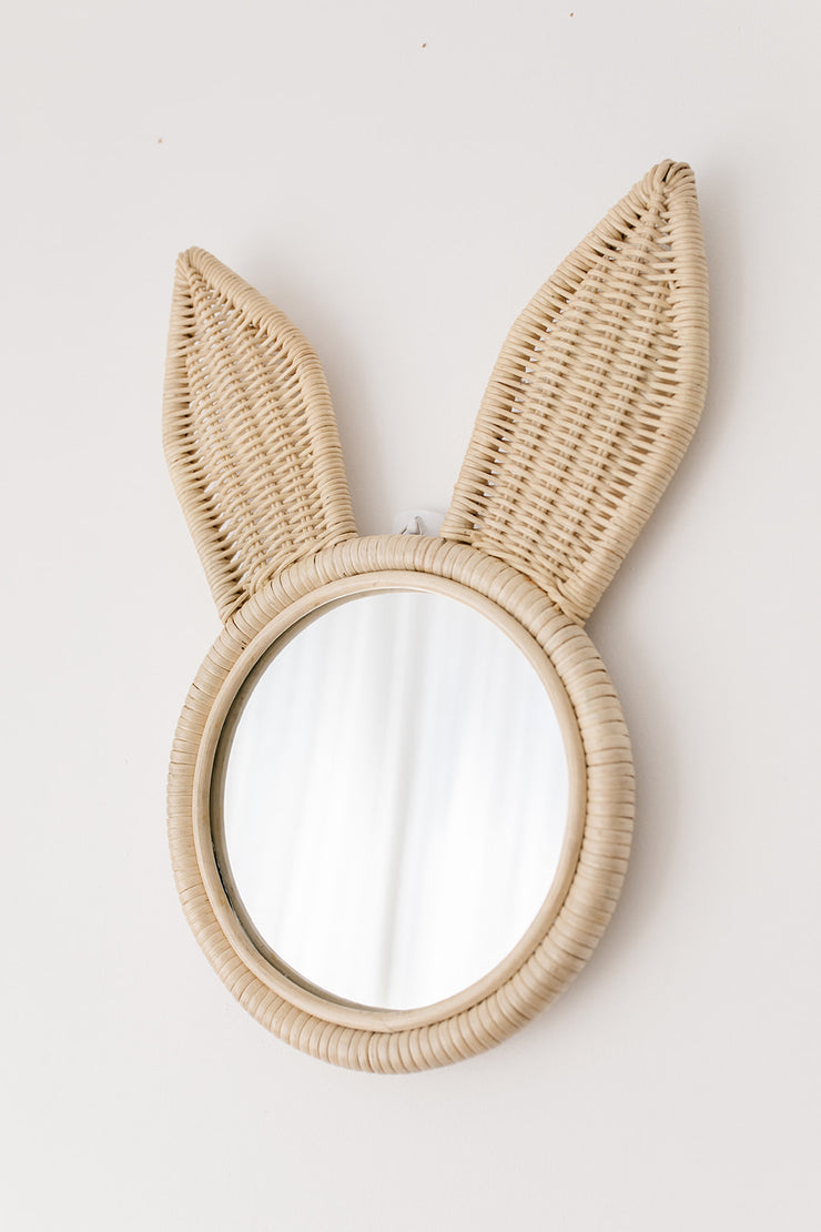 Rattan mirror - Bunny (PRE ORDER ITEM - JANUARY ARRIVAL)