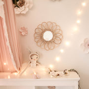 Rattan mirror - Flower small (PRE ORDER - AUGUST ARRIVAL)