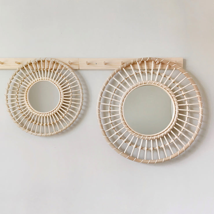 Rattan mirror - large sun (PRE ORDER - SEPTEMBER ARRIVAL)