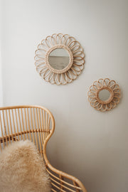 Rattan mirror - Flower large (PRE ORDER - MARCH ARRIVAL)