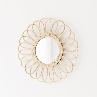 Rattan mirror - Flower large