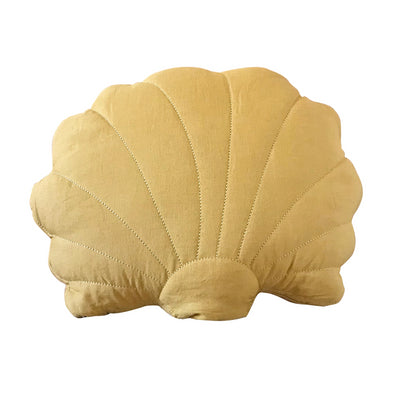 Shell cushion - Mustard yellow