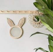 Rattan mirror - Bunny (PRE ORDER - AUGUST ARRIVAL))