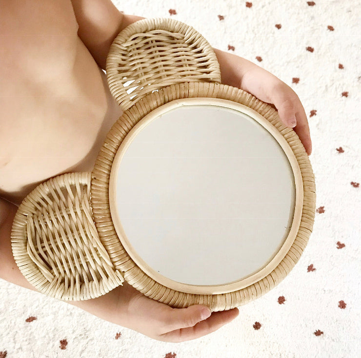 Rattan mirror - Bear (PRE ORDER ITEM - JANUARY ARRIVAL)