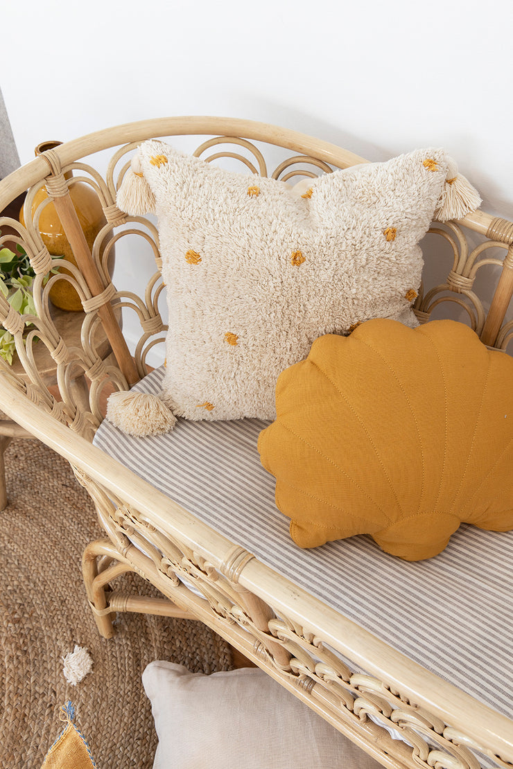 Shell cushion - Mustard yellow (PRE ORDER - OCTOBER ARRIVAL)