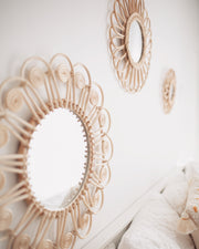 Rattan mirror - Peacock (PRE ORDER - MARCH ARRIVAL)