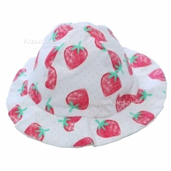 Girls Sun Hat Strawberry/Spot 3-12m (0125)
