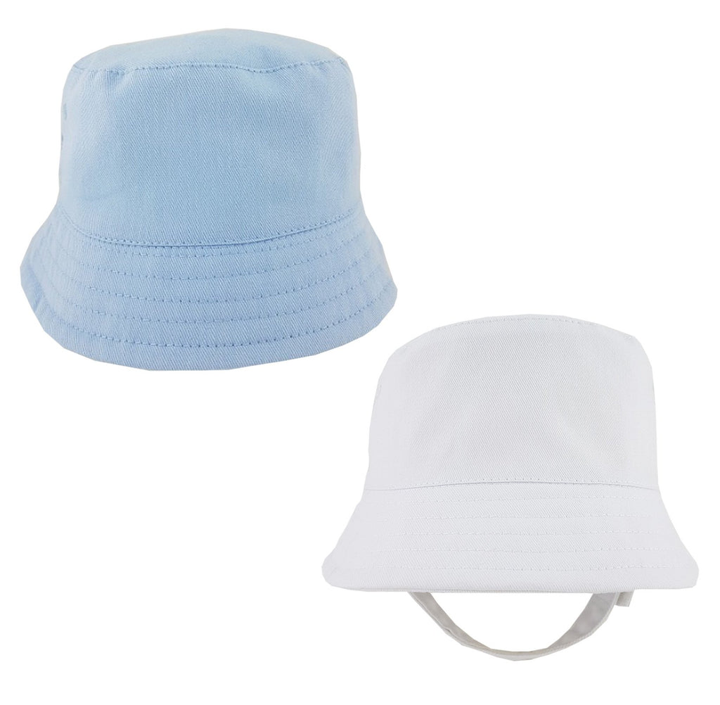 Baby Boys Plain Bucket Hat With Chin Strap (0-12 Months) 0192
