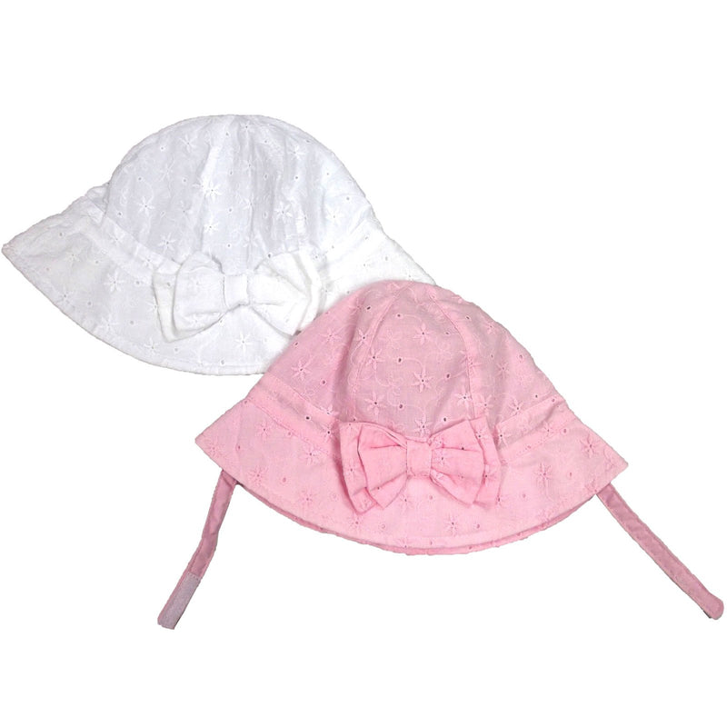 Girls BA Bow Cloche Hat W/Chin Strap - 0/6M (0225) - Kidswholesale.co.uk